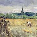 Harvest Field At Stratford Upon Avon by John William Inchbold