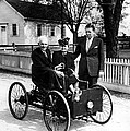 Henry Ford In His First Automobile by Everett