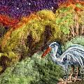 Heron At Night by Nicole Besack