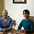 Hillary Clinton Visited Daw Aung San by Everett