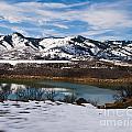 Horsetooth Reservoir Winter Scene by Harry Strharsky
