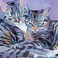 Hugs Purrs And Stripes by Kimberly Santini