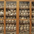 Human Skulls And Femurs Fill A Display by Tino Soriano