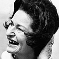 Lady Bird Johnson Smiles As The Wind by Everett