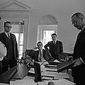 Lyndon Johnson With Former Kennedy by Everett