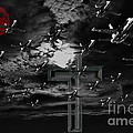 Midnight Raid Under The Red Moonlight by Wingsdomain Art and Photography