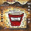 Mocha Beans Original Painting Madart by Megan Duncanson