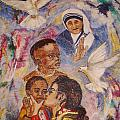 Mother Theresa And Michael Jackson For The Lost Children by Jocelyne Beatrice Ruchonnet