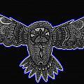 Neon Owl by Karen Elzinga