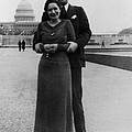 Newlywed Lyndon And Lady Bird Johnson by Everett