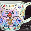Painted Kitty Mug by Joyce Jackson