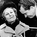 Pat Nixon Grasps Her Husbands Hand by Everett