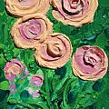 Peachy Roses Taking Form by Ruth Collis
