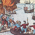 Pirates Burn Havana, 1555 by Photo Researchers