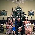 President Johnsons Family Celebrating by Everett