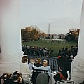 President Kennedy And His Family Watch by Everett