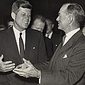 President Kennedy Talking With Arkansas by Everett