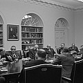 President Lyndon Johnson Meets With The by Everett