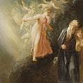 Prospero - Miranda And Ariel  by Thomas Stothard