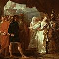 Queen Philippa Interceding For The Lives Of The Burghers Of Calais by Benjamin West