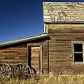 Ranchers House In Prairie Semi-ghost by Pete Ryan