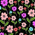 Retro Florals by Louisa Knight