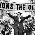Richard Nixon, Delivering His The V by Everett