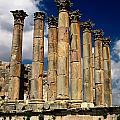 Roman Ruins At Jerash, Jordan by Richard Nowitz