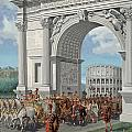 Roman Soldiers Lead Chained Captives by H.M. Herget