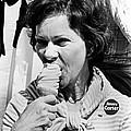 Rosalynn Carter Enjoys An Ice Cream by Everett