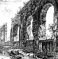 Ruins Of Roman Aqueduct, 18th Century by Photo Researchers