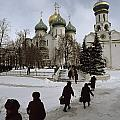 Russian Women, Dressed In Black, Walk by James L. Stanfield