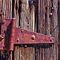 Rusty Barn Door Hinge  by Garry Gay