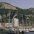 Sailboats Moored In Gibraltar Bay by Lynn Abercrombie