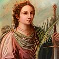 Saint Catherine Of Alexandria Painting by Munir Alawi