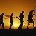 Silhouette Of Laikipia Masai Guides by Richard Nowitz