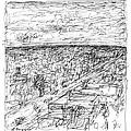 Skyline Sketch by Elizabeth Carrozza