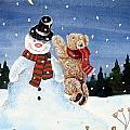 Snowman In Top Hat by Gordon Lavender
