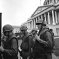 Soldiers Stand Guard Near Us Capitol by Everett