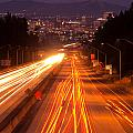 Spokane At Night by Beve Brown-Clark Photography