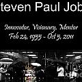 Steven Paul Jobs . Innovator . Visionary . Mentor . Rip . San Francisco Apple Store Memorial by Wingsdomain Art and Photography