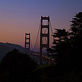 Sunset On The Golden Gate by Tim Mulina