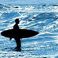 Surfer Silhouette by Carlos Caetano