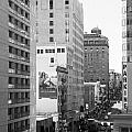 Sutter Street West View . Black And White Photograph 7d7506 by Wingsdomain Art and Photography