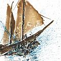 Tall Ship Xi by Janet Whitehead