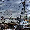 Tall Ships At Navy Pier by David Bearden