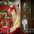 Teddy Waiting For Christmas Time by Sandra Cunningham