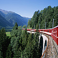 The Glacier Express Crosses A Bridge by Taylor S. Kennedy