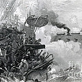 The Sinking Of The Cumberland, 1862 by Photo Researchers