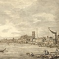 The Thames Looking Towards Westminster From Near York Water Gate  by Giovanni Antonio Canaletto
